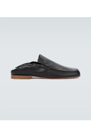 Loewe Men Loafers - Pull tab leather loafers