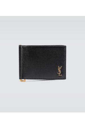 Saint Laurent Men Wallets - Portadoll leather money clip wallet