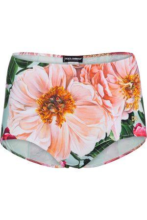 Dolce & Gabbana Floral high-rise bikini bottoms