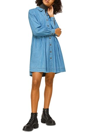 Whistles Chambray Mini Dress