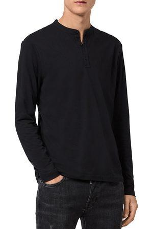 AllSaints Men Long Sleeve - Kershaw Cotton & Silk Long Sleeve Henley
