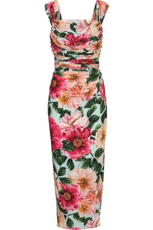 Dolce & Gabbana Floral stretch-jersey midi dress