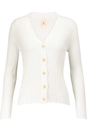 Jardin des Orangers Ribbed-knit cotton and silk cardigan
