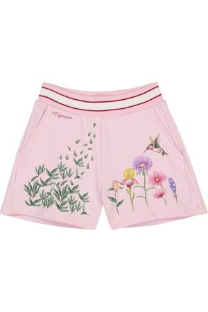 MONNALISA Floral stretch-cotton shorts