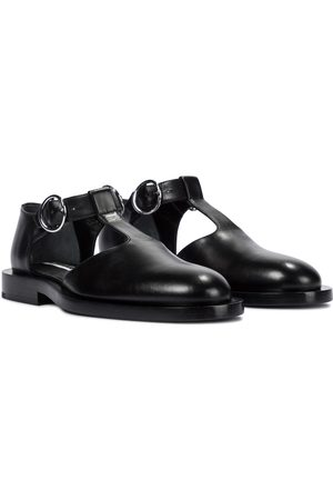 Jil Sander Buckled leather ballet flats