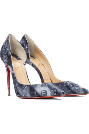 Christian Louboutin Women Pumps - Iriza 100 printed denim pumps