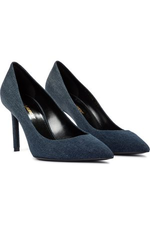 Saint Laurent Anja 85 denim pumps