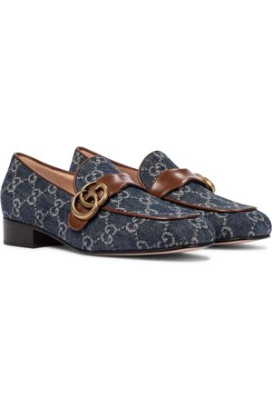 Gucci GG Marmont denim loafers