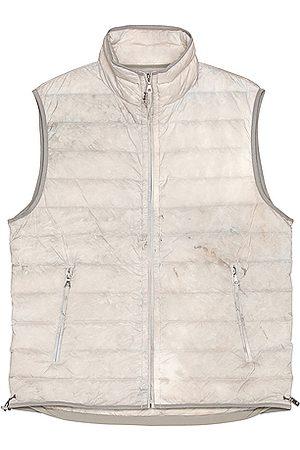 JOHN ELLIOTT Chamberlin Down Vest in Grey,Ombre & Tie Dye