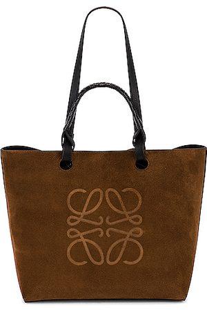 Loewe Anagram Suede Tote Bag in