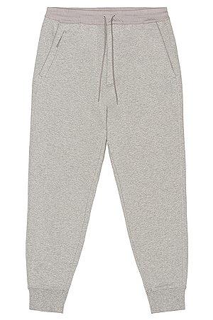Y-3 Classic Terry Cuffed Pants in Medium Grey Heather in Grey