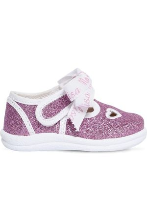 MONNALISA Glittered Sandals W/ Bow