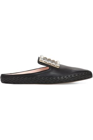 Roger Vivier 10mm Rv Lounge Leather Mules
