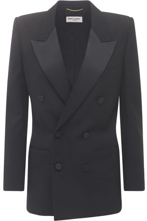 Saint Laurent Wool Grain De Poudre Blazer Jacket