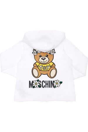 Moschino Girls Hoodies - Toy Print Cotton Sweatshirt Hoodie