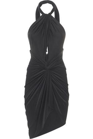 ALEXANDRE VAUTHIER Women Casual Dresses - Draped Shiny Jersey Mini Dress W/cut Out