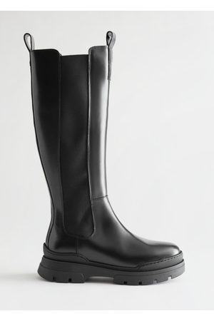 & OTHER STORIES Women Thigh High Boots - Tall Leather Chelsea Boots