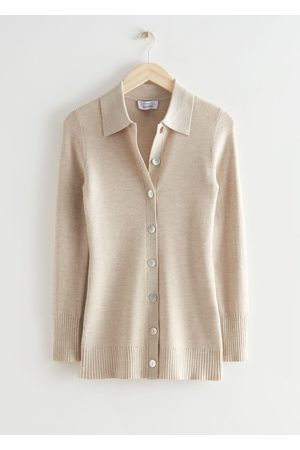 & OTHER STORIES Women Cardigans - Long Fitted Rib Knit Cardigan