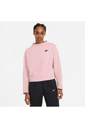 Nike Women Hoodies - Women's Sportswear Tech Fleece Crew Sweatshirt Size X-Small Cotton/Polyester/Fleece
