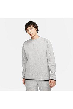 Nike Men Sweatshirts - Men's Sportswear Grind Tech Fleece Crewneck Sweatshirt in / Size Small 100% Cotton/Fleece/Fiber