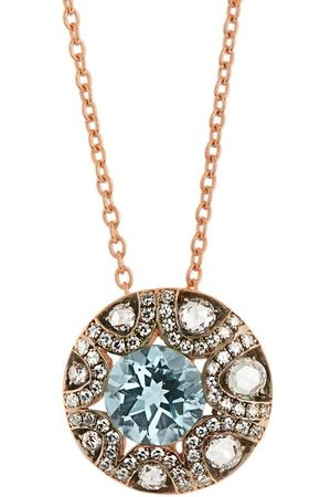SELIM MOUZANNAR Women Necklaces - Diamond, Aquamarine & 18kt Necklace - Womens