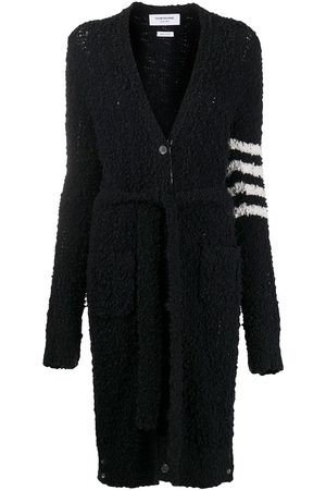 Thom Browne Women Cardigans - 4-Bar boucle cable cardigan