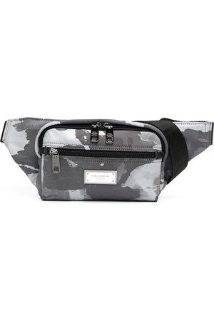 Dolce & Gabbana Men Bags - Logo-plaque camouflage-print belt bag