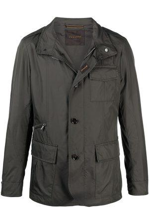 MOORER Men Jackets - Hooded buttoned down jacket