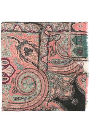 Etro Women Scarves - Paisley-print wool-blend scarf