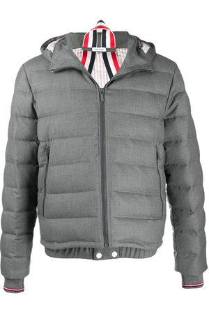 Thom Browne Men Ski Suits - Super 120s twill ski jacket - Grey