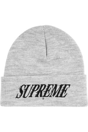 Supreme Logo-embroidered beanie - Grey