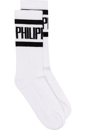 Philipp Plein Logo print socks