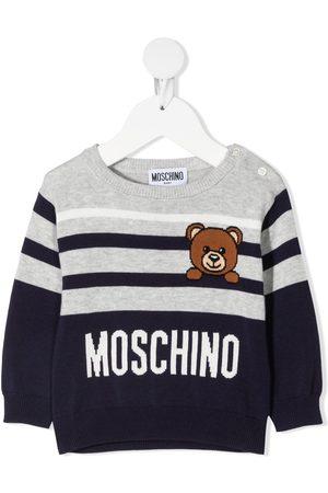 Moschino Teddy striped jumper - Grey