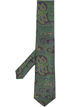 Etro Paisley embroidered silk tie