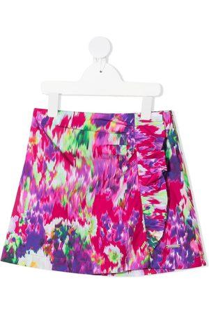 Msgm Abstract-print skirt