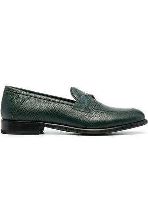 Etro Men Loafers - Paisley print leather moccasins