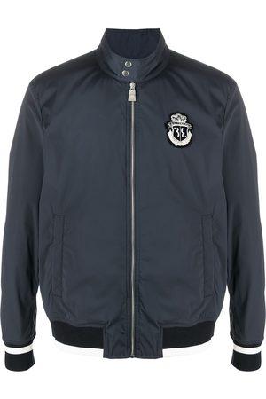 BILLIONAIRE Logo-patch zip-up bomber jacket