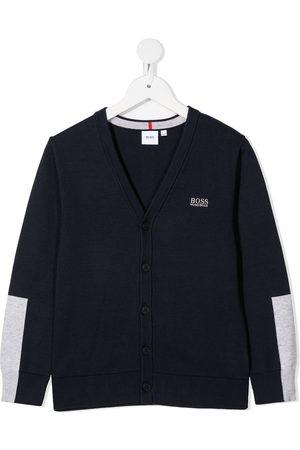 HUGO BOSS Boys Cardigans - Colour-block cotton cardigan