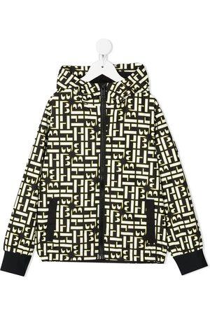 HUGO BOSS Graphic-print hooded rain jacket