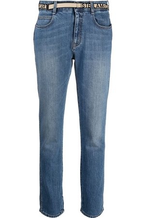 Stella McCartney Logo-tape slim-fit jeans