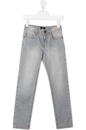 HUGO BOSS Straight-leg denim trousers - Grey