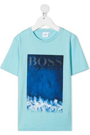 HUGO BOSS Graphic-print cotton T-shirt