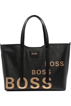 HUGO BOSS Logo-print faux-leather changing bag