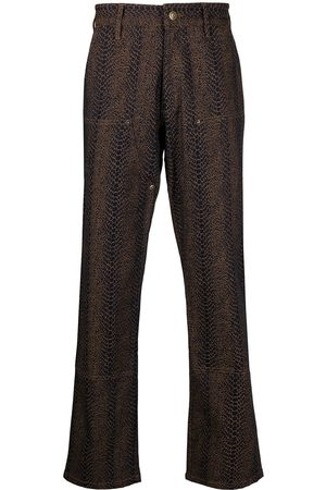 Chinatown Market Snakeskin-effect carpenter trousers