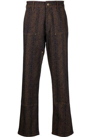 Chinatown Market Snakeskin-effect carpenter trousers