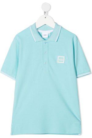 HUGO BOSS Logo patch polo shirt