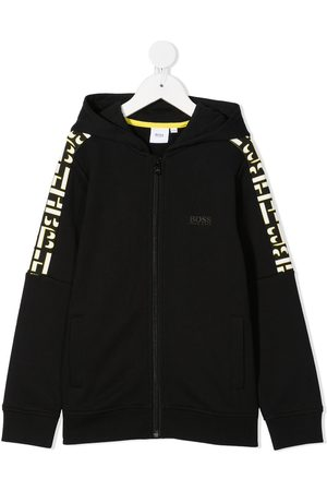 HUGO BOSS Graphic-print zip-up hoodie