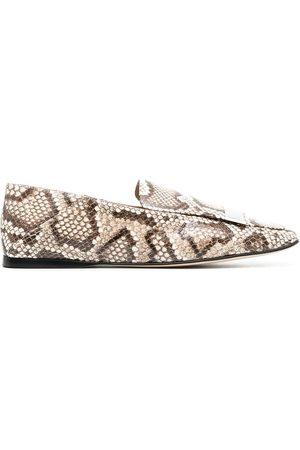 Sergio Rossi Python SR1 flat loafers
