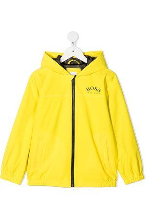HUGO BOSS Boys Rainwear - Logo-print hooded rain jacket