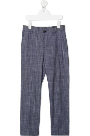 HUGO BOSS Boys Chinos - Checked straight-leg chinos